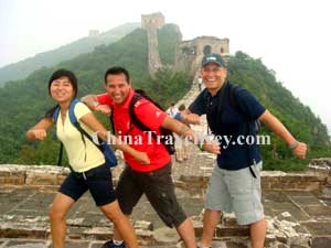 Travelers on Simatai Great Wall