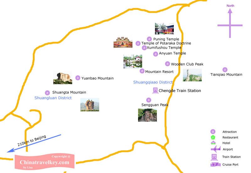 Chengde Tourism Map - Chengde map