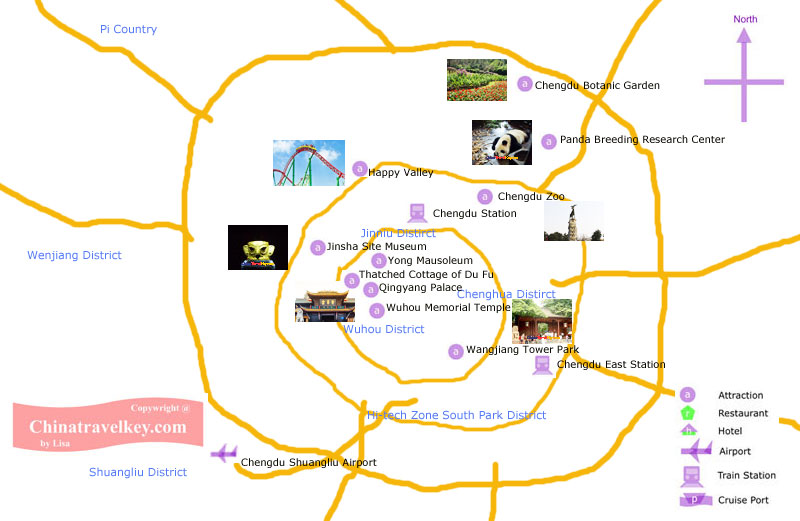 Chengdu Tourism Map