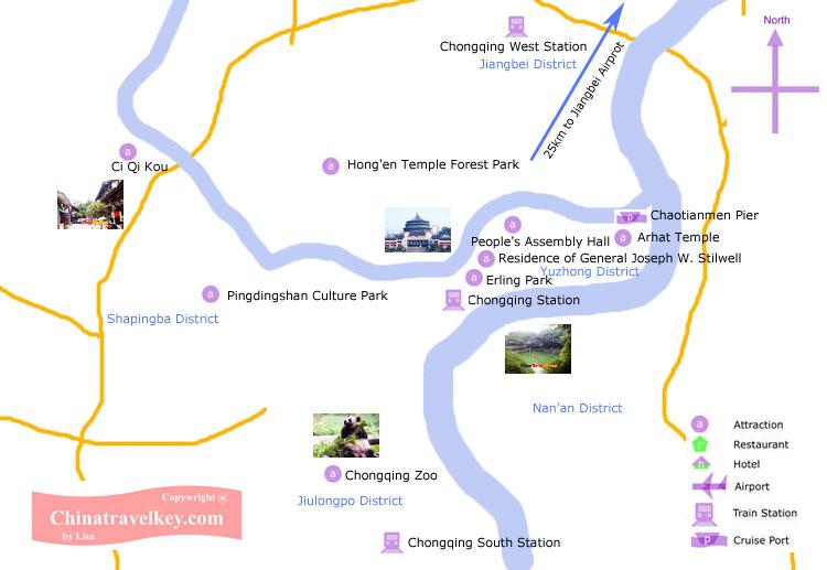 Chongqing Tourism Map
