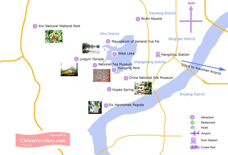 Hangzhou Tourism Map