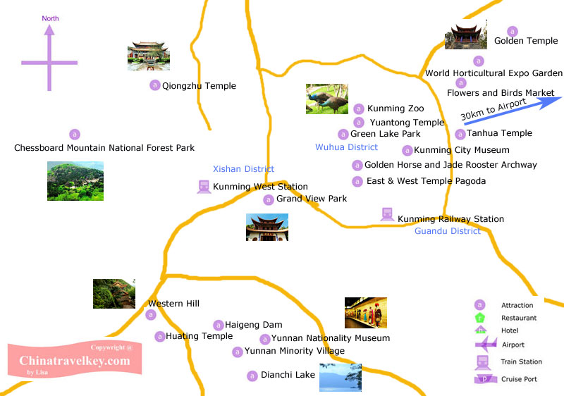 Kunming Tourism Map