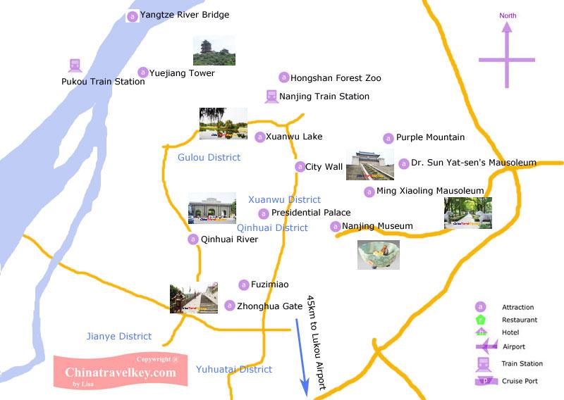 Nanjing Tourism Map
