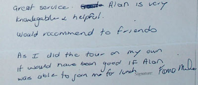 Datong tour testimonial, click here to see more