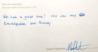 Lijiang tour testimonial, click here to see more.